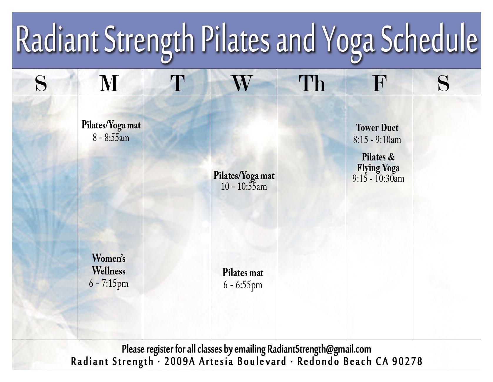 February Schedule 2017